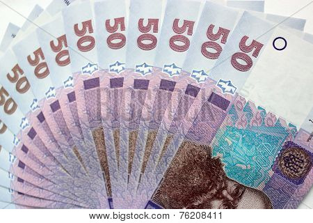 Background Of The Ukrainian Money Of 50 Grivnas