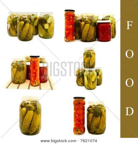 Pickled Vegetables In Glass Jar