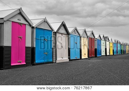 Colour shed in Brighton UK