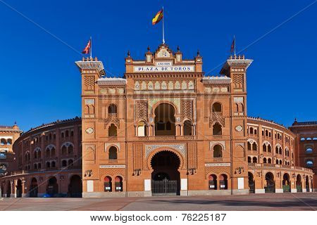 Famous bullfighting arena in Ventas Plaza - Madrid Spain