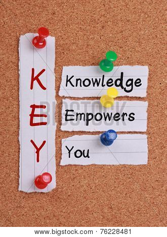 Knowledge Empowers You And Key Acronym