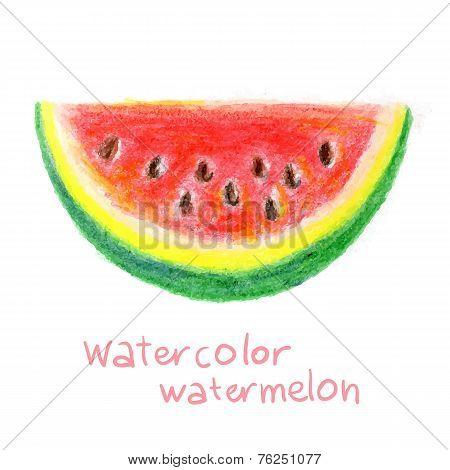 Slice of watermelon in vector