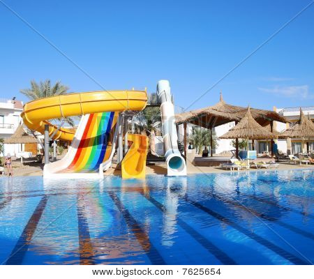 Aquapark At Popular Hotel, Sharm El Sheikh, Egypt