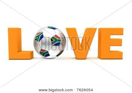 Sul-Africano de futebol amor laranja