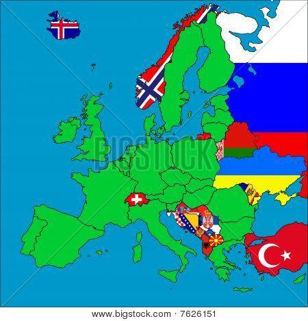 Map Of Non-eu Member Countries
