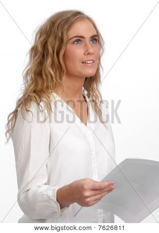 Attractive Woman At Conference
