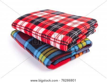 Blanket, Soft Warm Blanket On Background