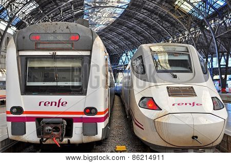Renfe Trains In Barcelona