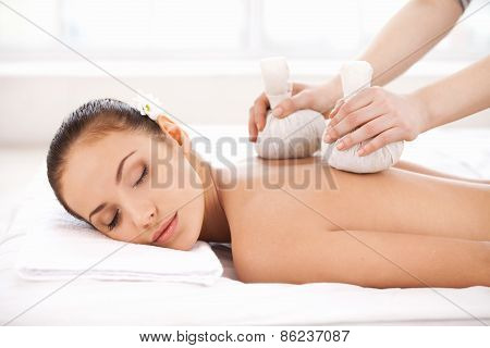 Enjoying A Massage.