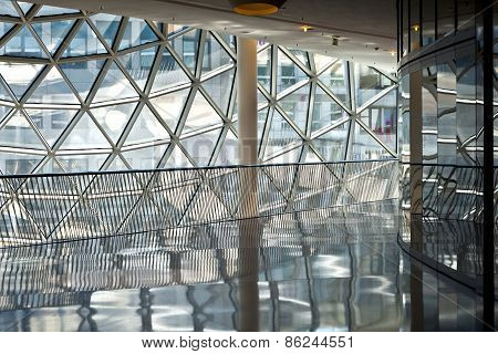 Frankfurt, A Futuristic Shopping Center