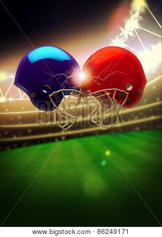 American Football Helmet Background
