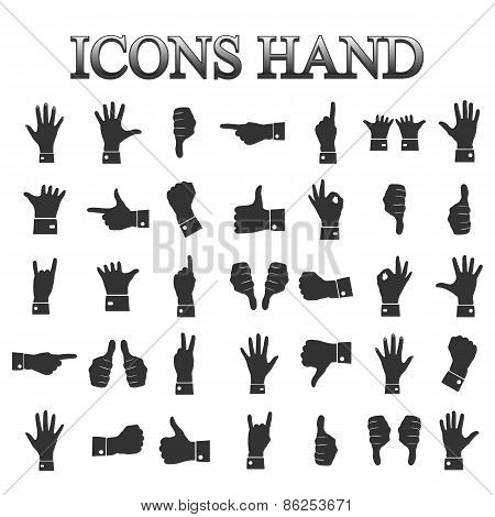 Icons Hands, Vector
