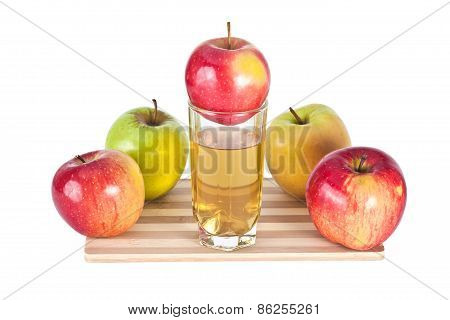 Apples And Juice Composition