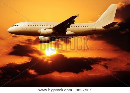 Flying On A Sunset