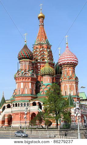 Photo of a Saint Basil's Cathedral in Moscow Russia poster