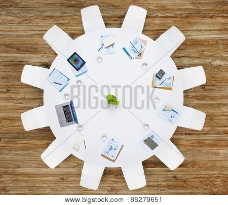 Business Contemporary Meeting Room Office Working Concpt
