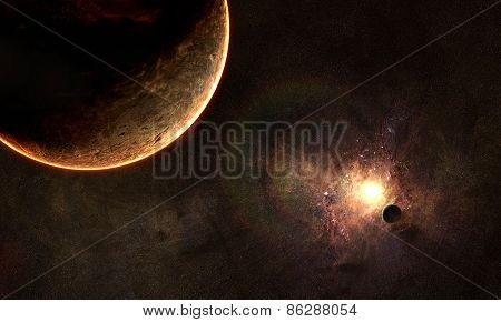Solar Eclipse In Space
