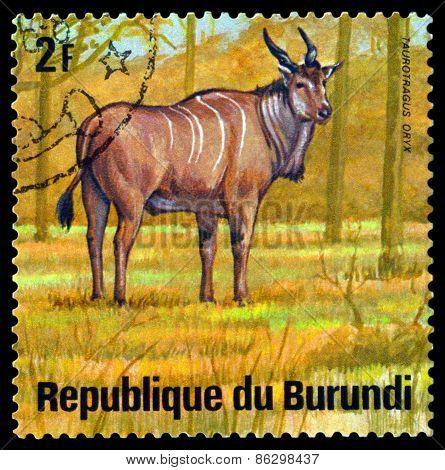 Vintage  Postage Stamp. Eland. Animals Burundi.