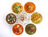 Assortment of indian dishes poster