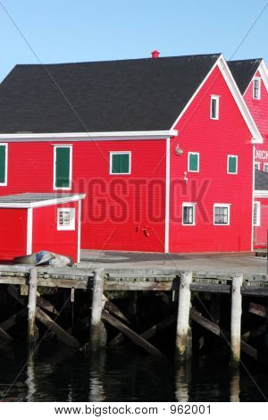 Bright Red Buildings