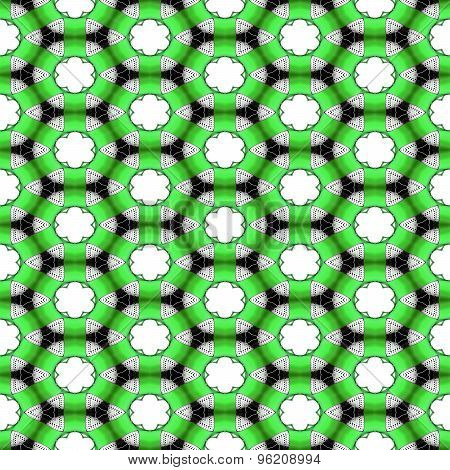 Seamless Futuristic Abstract Black, Neon Green And Silver Chrome Metallic Balls Densely Packed In Ge