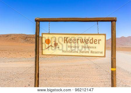 Namibrand Nature Reserve Park In Namibia.