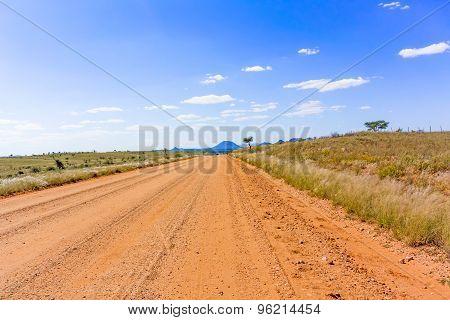 Landscape Near Windhoek In South Africa