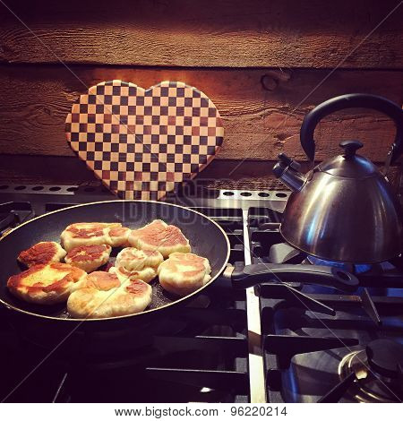 Instagram Of Breakfast Cooking At Cottage