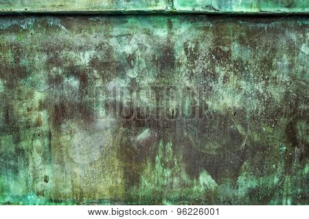 Oxidized Green Copper Plate Texture