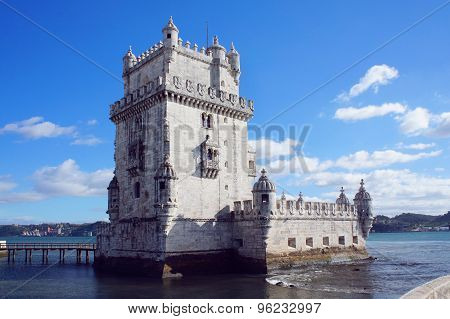 Belem Tower Of Tagus River In The Lisbon