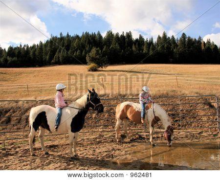 Girls On Paint Horses