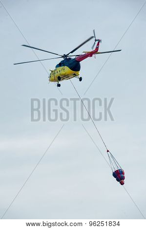 Fireguard helicopter MI-8 with water tank