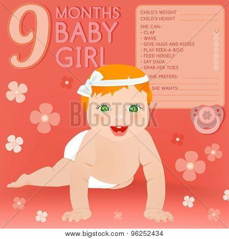 Nine months baby