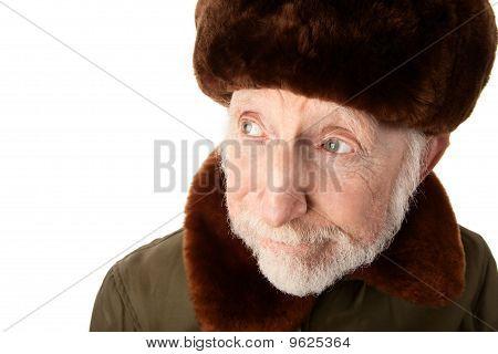 Russian Man In Fur Cap