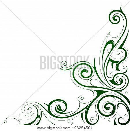 Floral style frame border