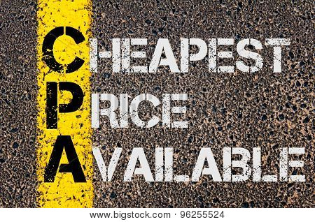 Business Acronym Cpa As Cheapest Price Available