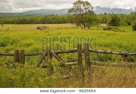 Rustic wooden fence, New Hampshire