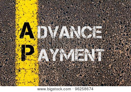Business Acronym Ap As Advance Payment