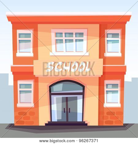 School Building, Back To School, Education Concept, Vector