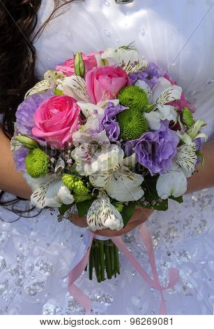 Bridal Bouquet Of Different Flowers