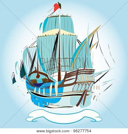 Spanish Galleon Emblem