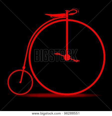Red Penny Farthing