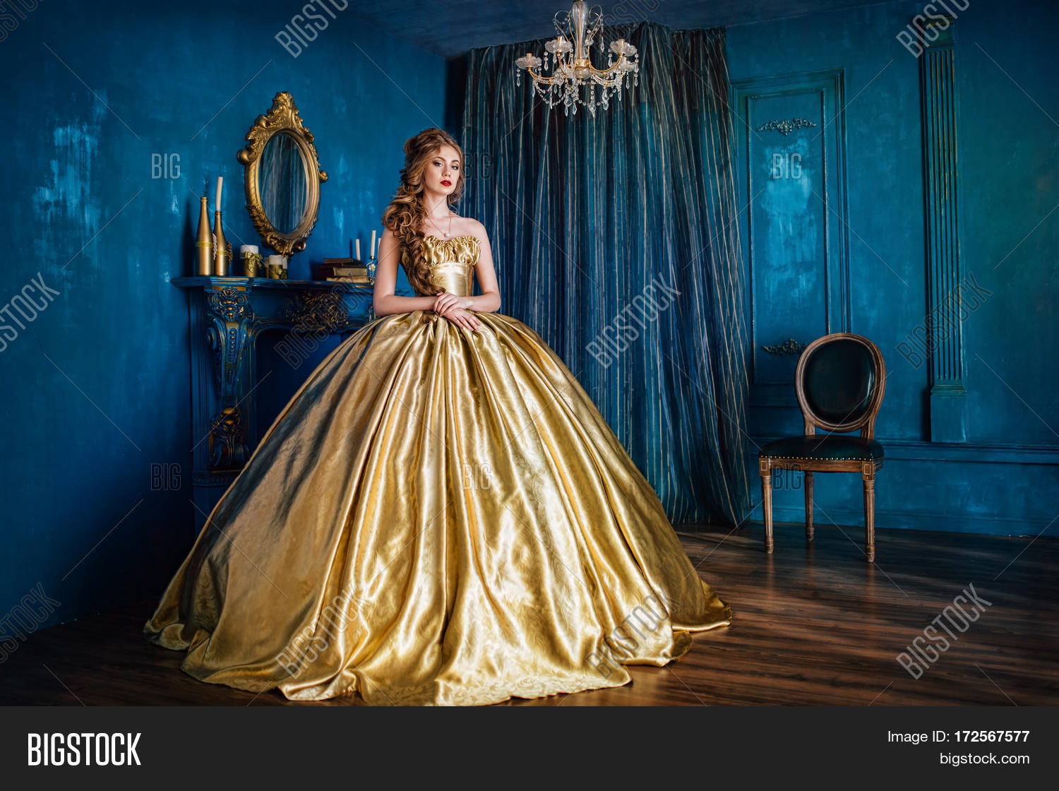 Beautiful Woman Golden Image & Photo (Free Trial) | Bigstock