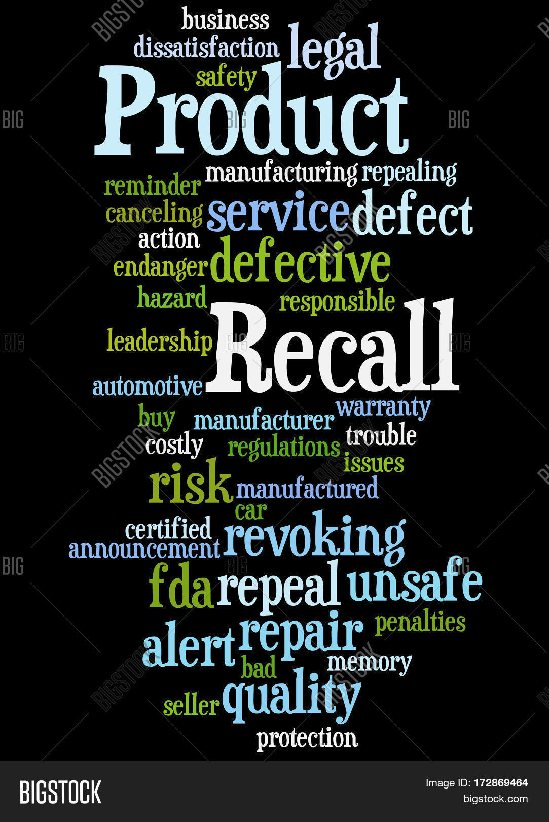 Product Recall Word Image Photo Free Trial Bigstock