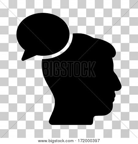 Person Idea vector pictogram. Illustration style is a flat iconic black symbol on a transparent background.