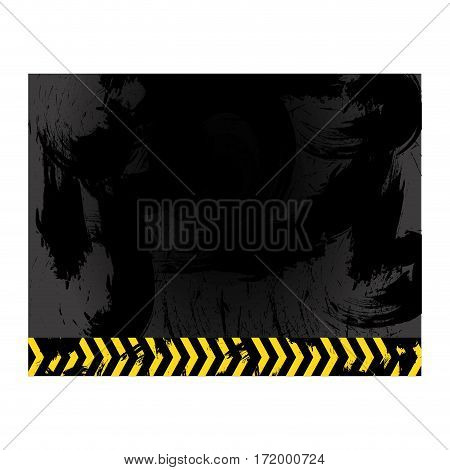 Asphalt with stains and line sign caution vector illustration