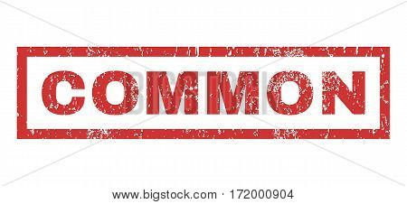 Common text rubber seal stamp watermark. Caption inside rectangular shape with grunge design and unclean texture. Horizontal vector red ink sign on a white background.