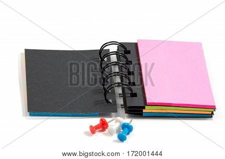 New blank paper note pad on a white background isolated