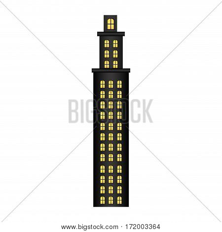 tower residence with several floors vector illustration