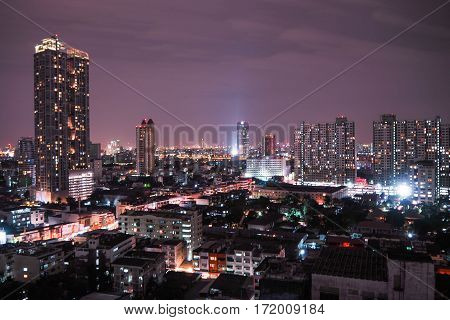 One night in the city, cItyscape at the nighttime.